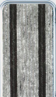 Chenille Flauschvorhang dunkelgrau