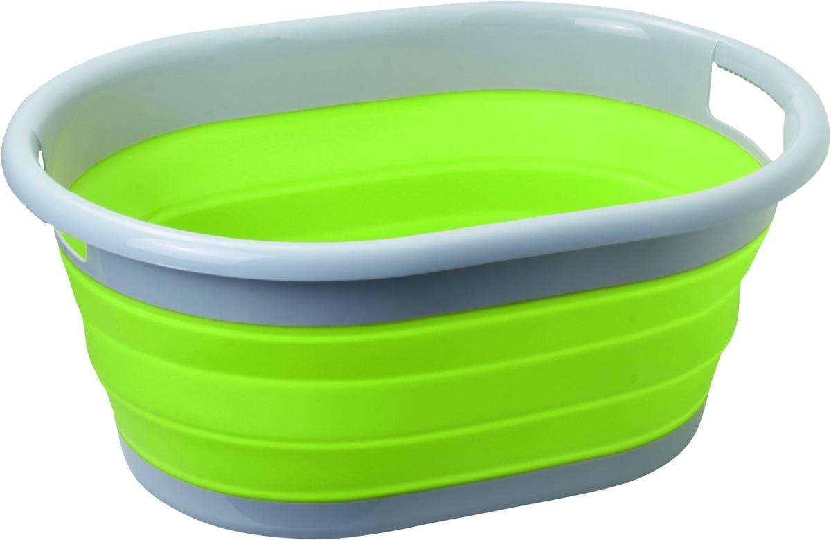 Brunner Faltbarer Waschkorb grün/grau