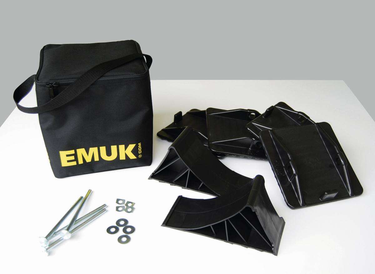 EMUK Stützplatten-Radkeil-Set Typ 100