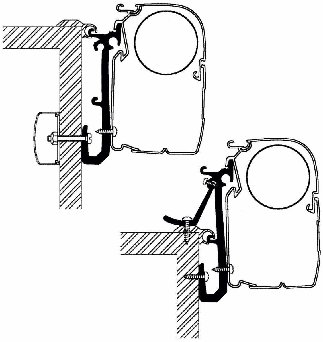 Thule Omnistor Universal Caravan Adapterset 3er Pack