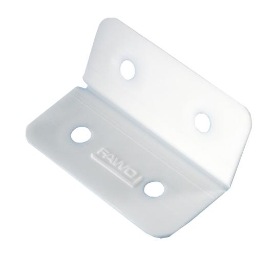Kunststoff-Scharnier weiß 4er-Pack