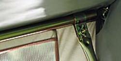 Andruckstange mit Bügelfuß Stahl 170-270 cm, 22 mm