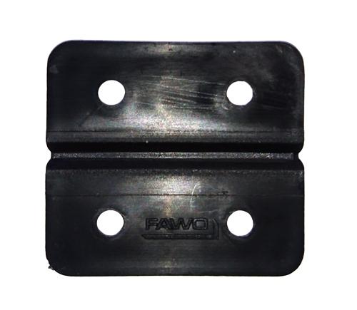 Kunststoff-Scharnier schwarz 4er-Pack