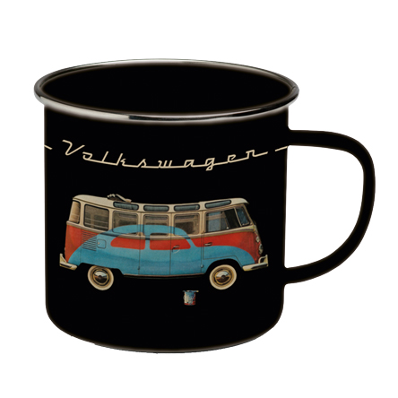 VW Collection Emaille Tasse schwarz