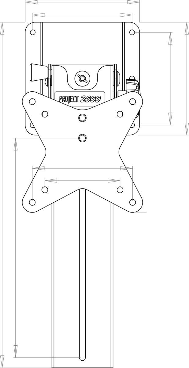 Project 2000 TFT-Deckenhalterung mit Drehplatte