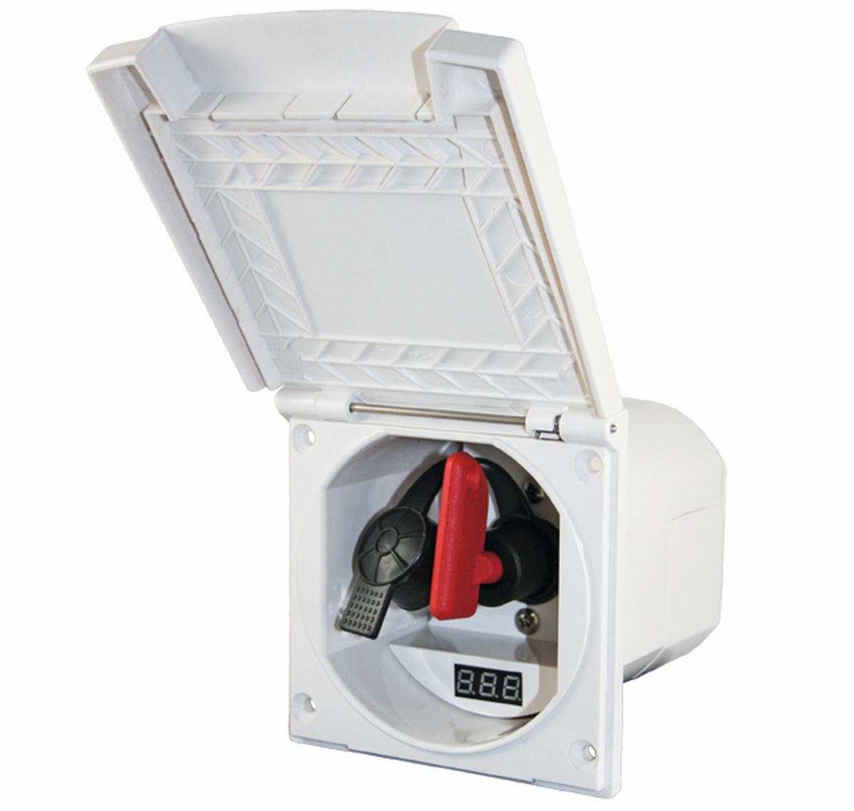 Einbaudose mit Trennschalter und Voltmeter
