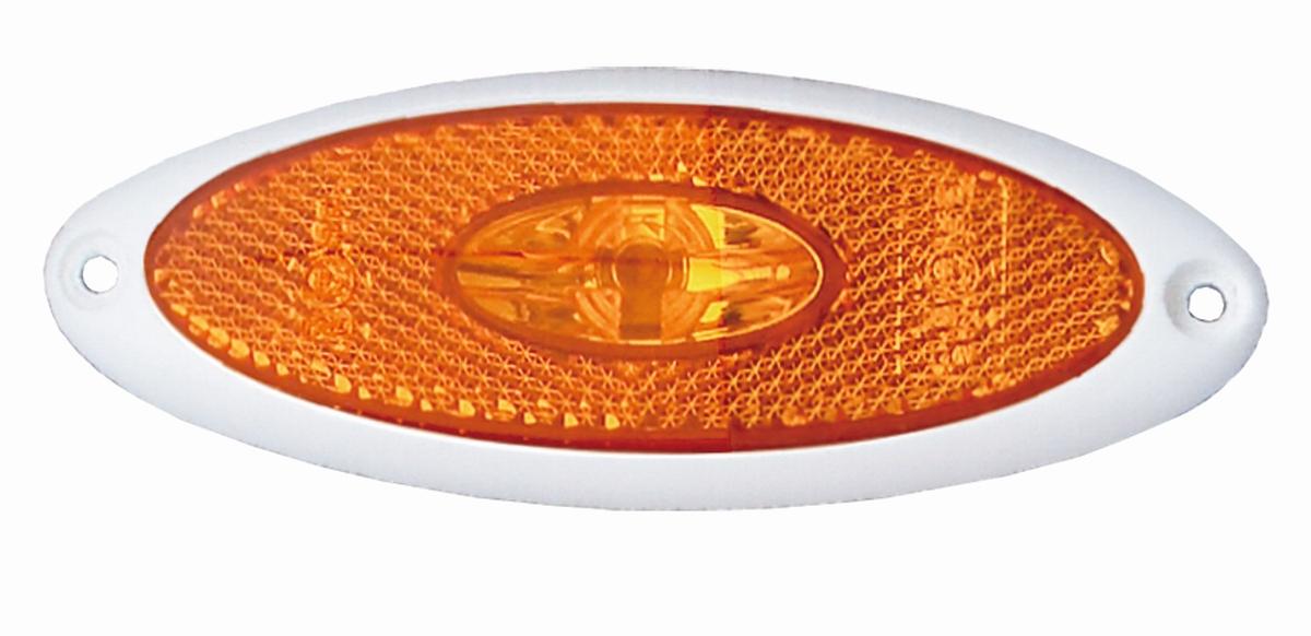 LED-Seitenmarkierungsleuchte, Rahmen weiß