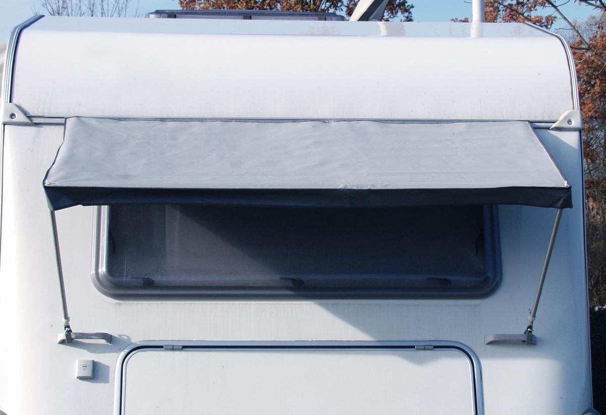 Fenstermarkise uni grau