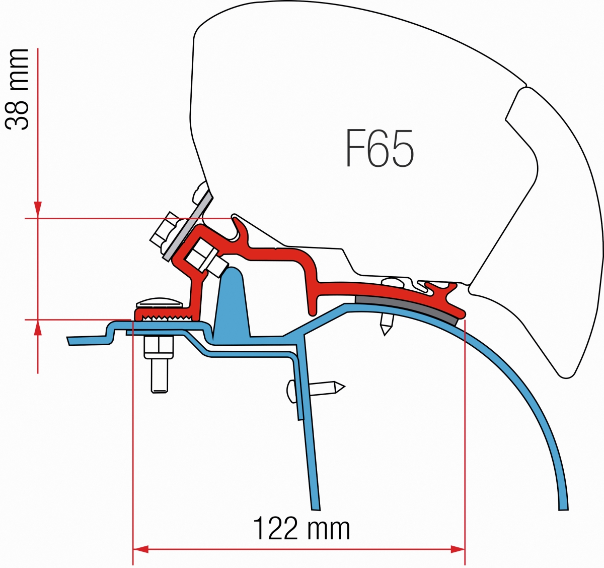 Fiamma F65 Renault Master, Opel Movano Adapter Kit