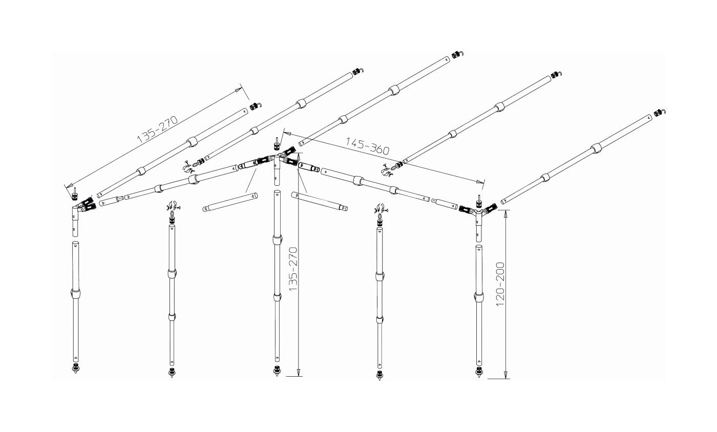 Easy System Vorzeltgerüst Standard Alu