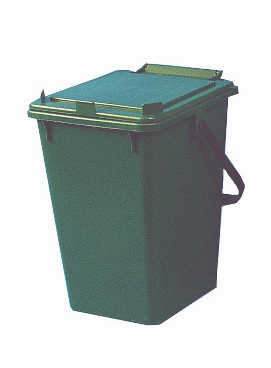 Brunner Abfallbehälter mit Deckel