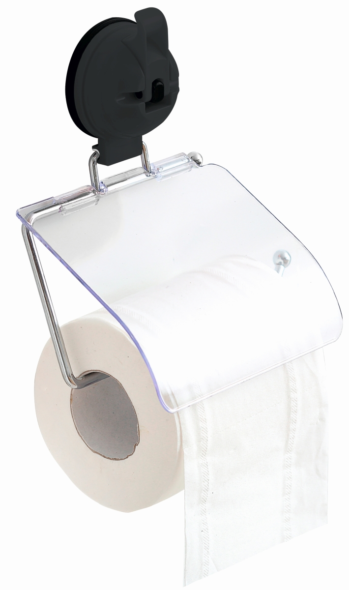 Saug Fix Toilettenpapierhalter grau