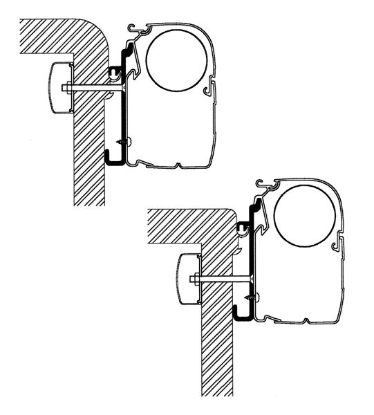 Thule Omnistor Rapido Serie 9 Adapterset 4er Pack