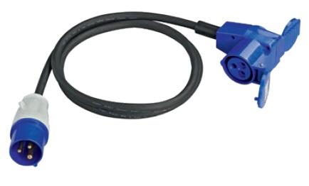 CEE-Adapterkabel mit Winkelkupplung