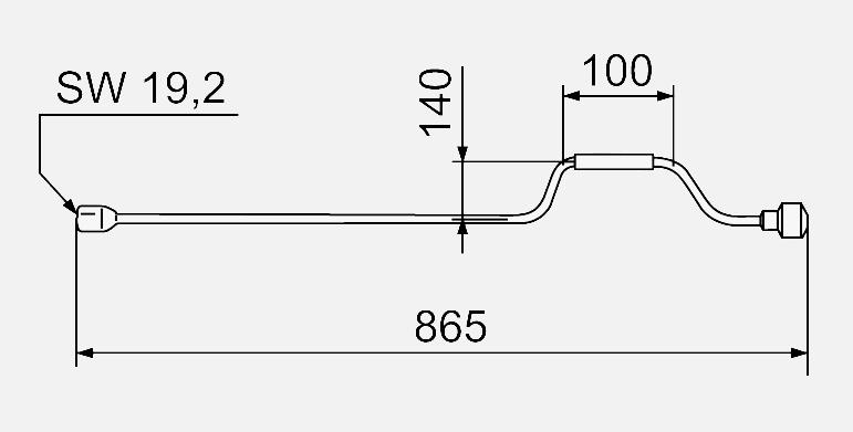 AL-KO Ausdrehkurbel für Hubstützen 865 mm