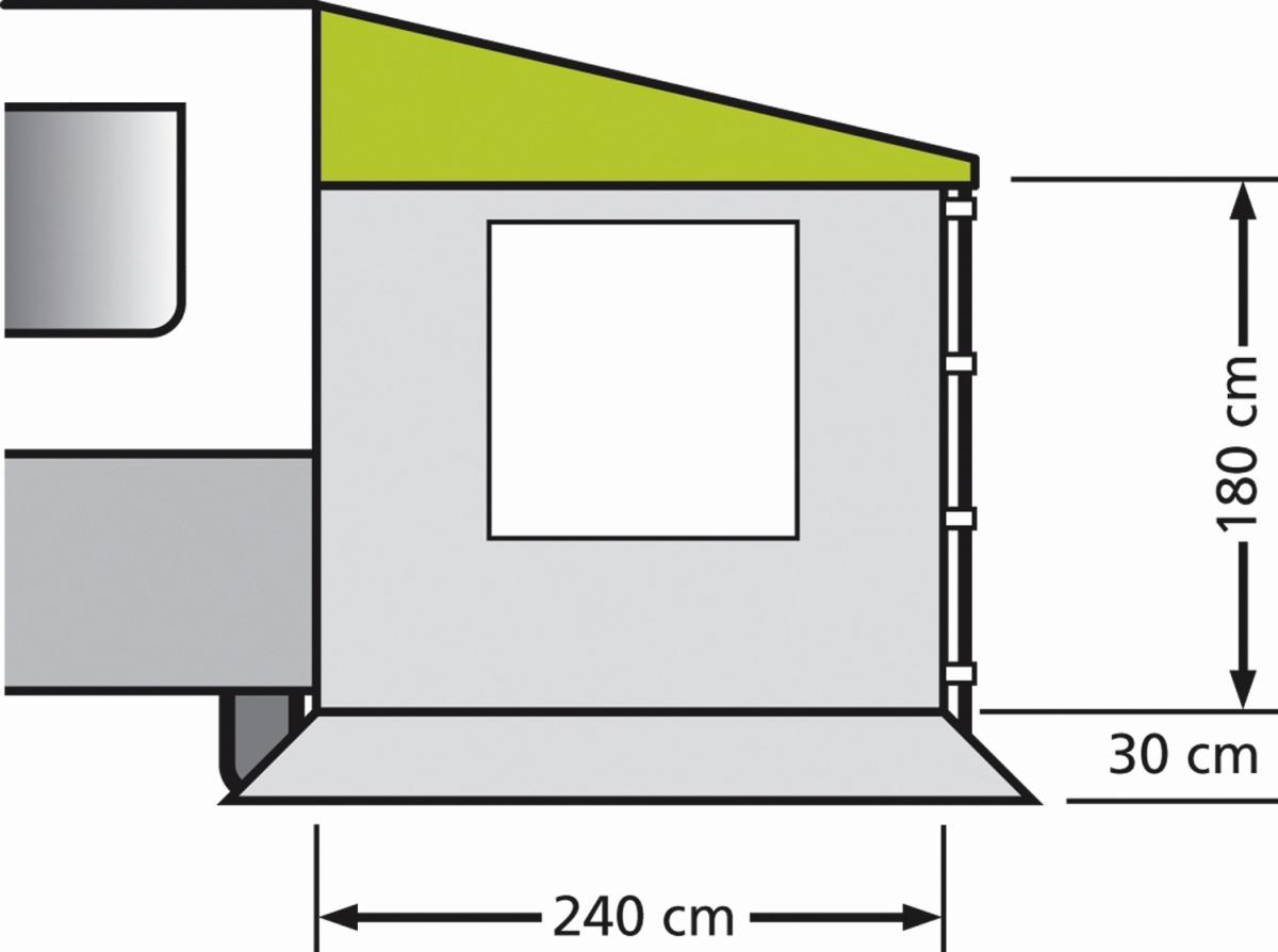 EuroTrail Sonnenvordach COMBI Seitenwand mit Fenster