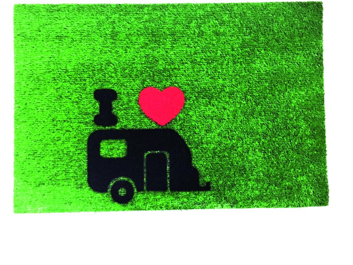 Teppich GREEN FLOCK 40x60 cm Caravan