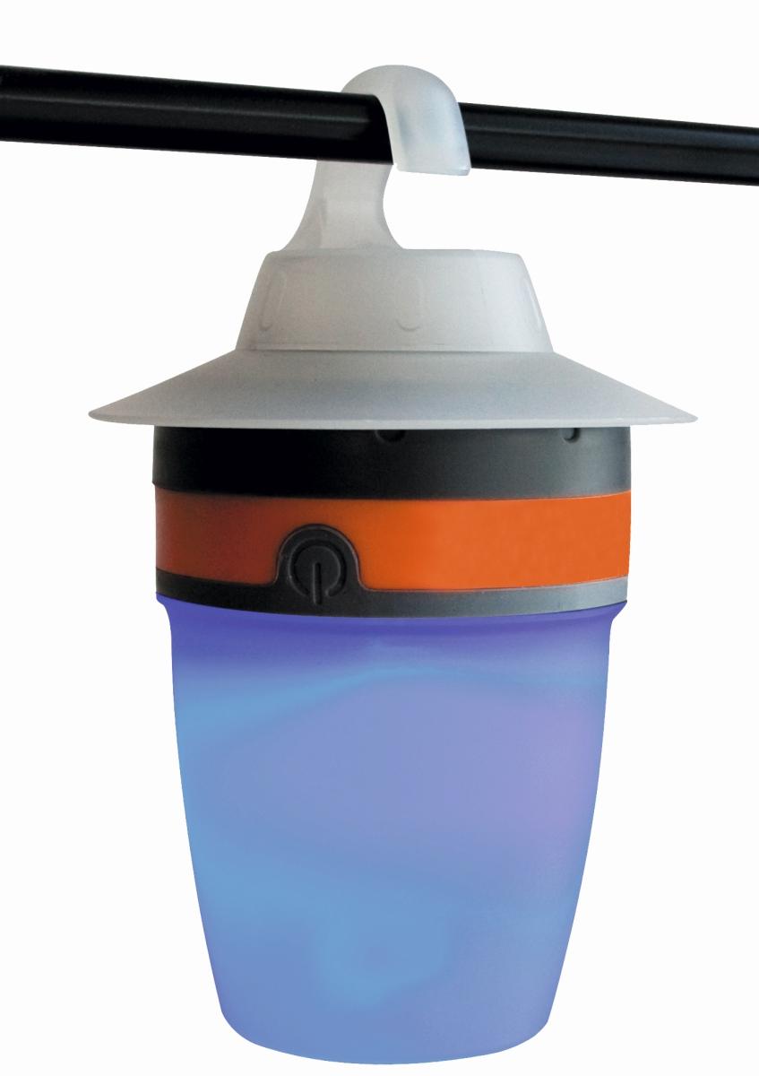 LED-Campingleuchte CAP grau/orange
