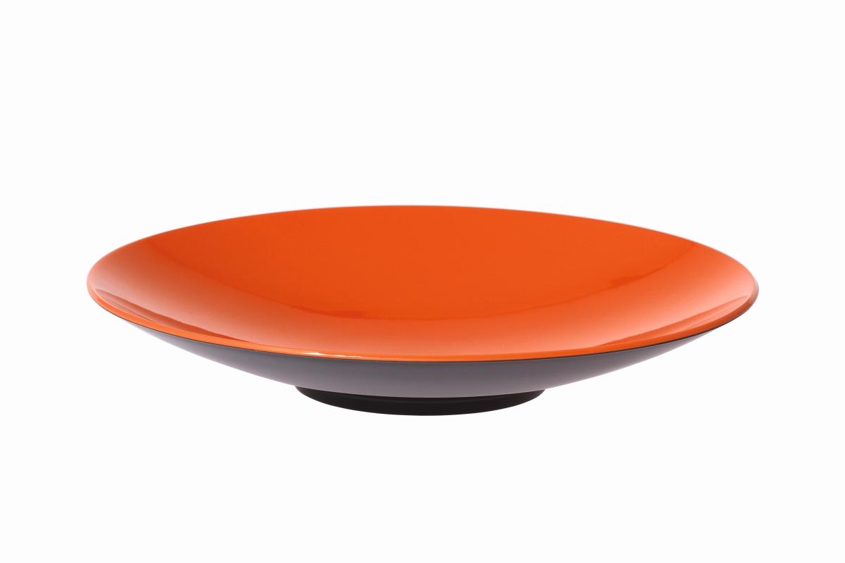 Gimex Pastateller grau-orange 23 cm