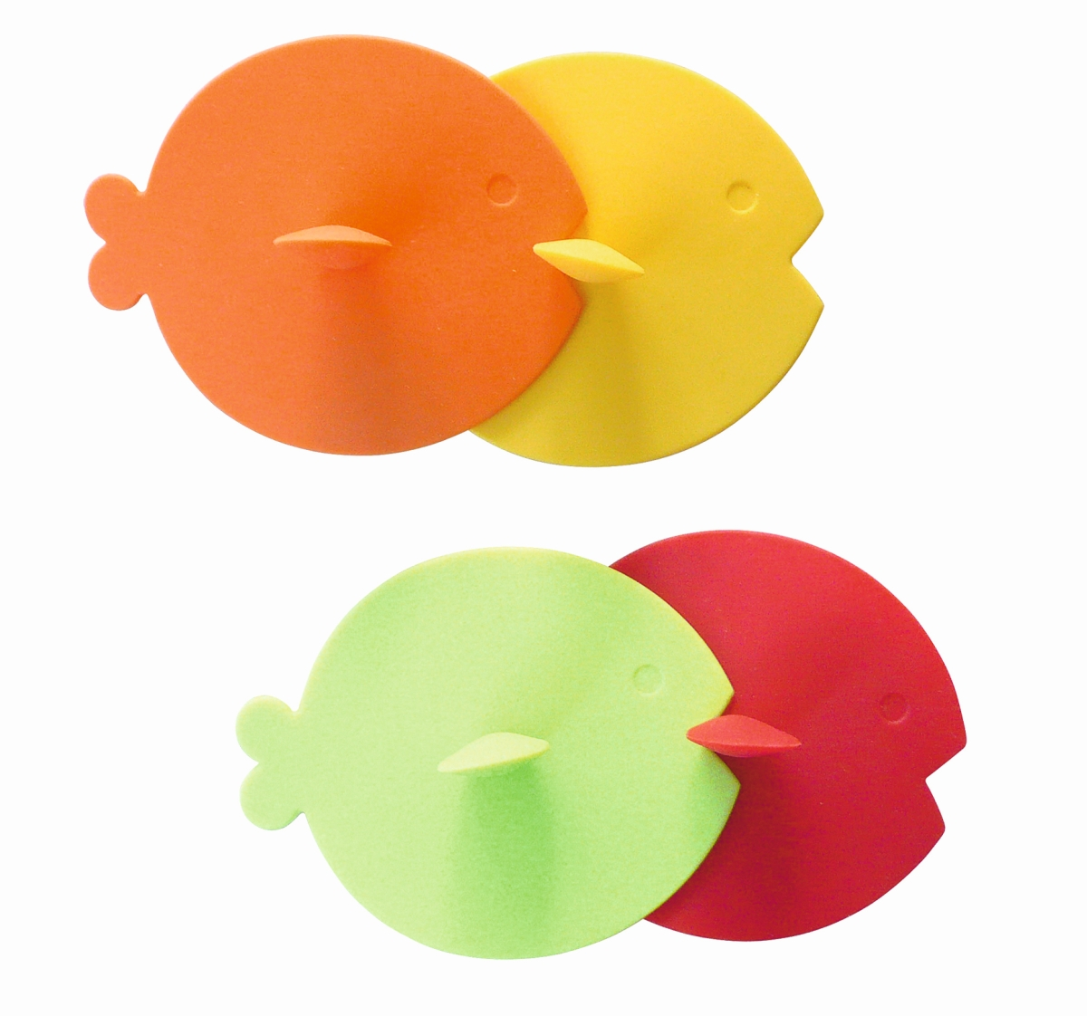 Gimex Fischdeckel Rainbow (4er Set)