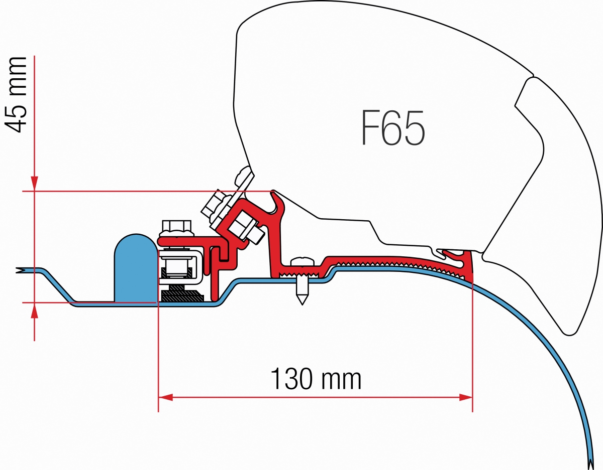 Fiamma F65 Iveco Daily H2 Adapter Kit