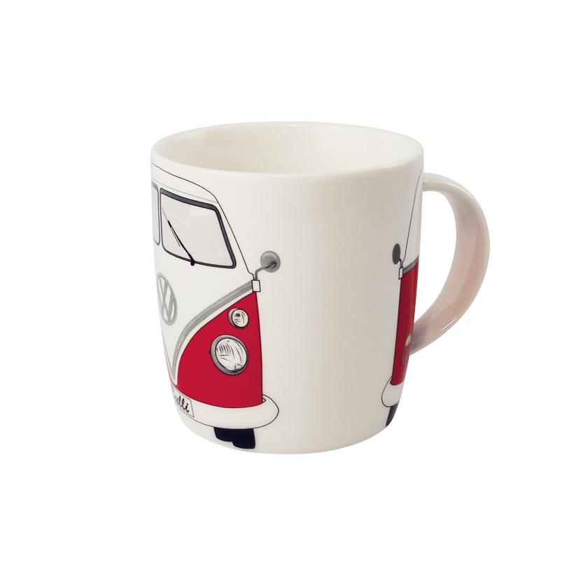 VW Collection Kaffeetasse rot-weiß