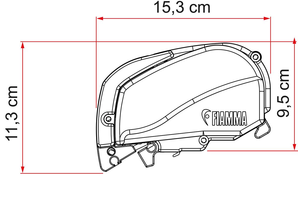 Fiamma F80S Markise titanium 425 cm Royal Grey