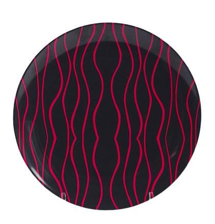 Gimex Desserteller grau-blackberry 21 cm