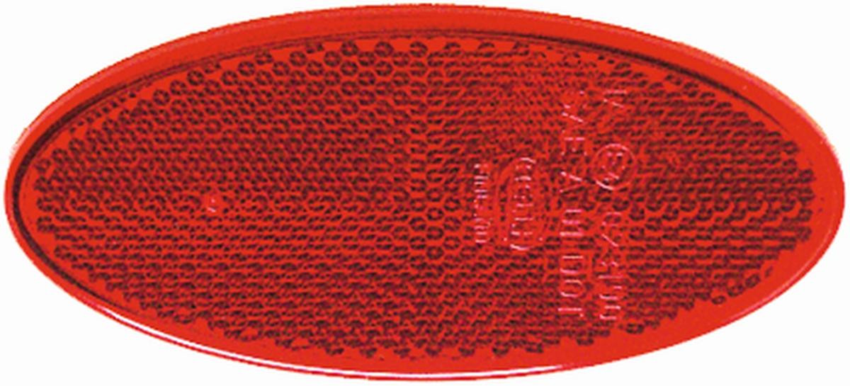 JOKON Rückstrahler oval selbstklebend rot