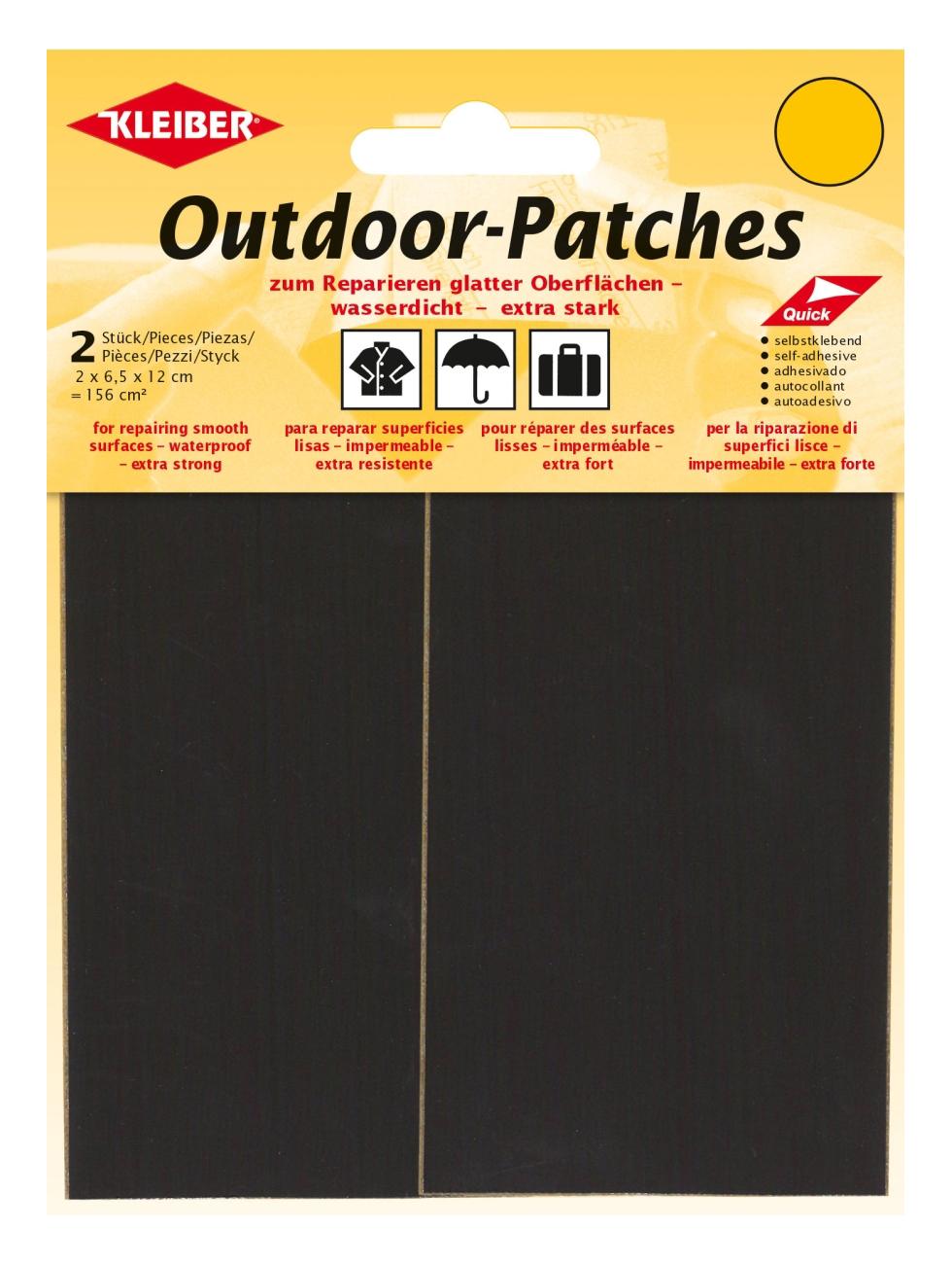 KLEIBER Outdoor-Patches schwarz