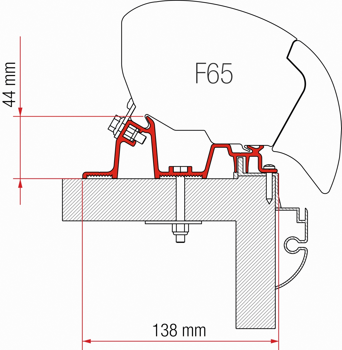 Fiamma F65 Hobby Premium Adapter Kit