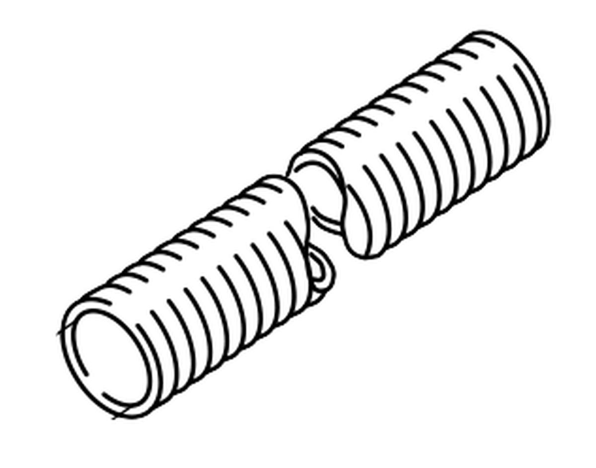 WEBASTO-Warmluftschlauch 60 mm per m