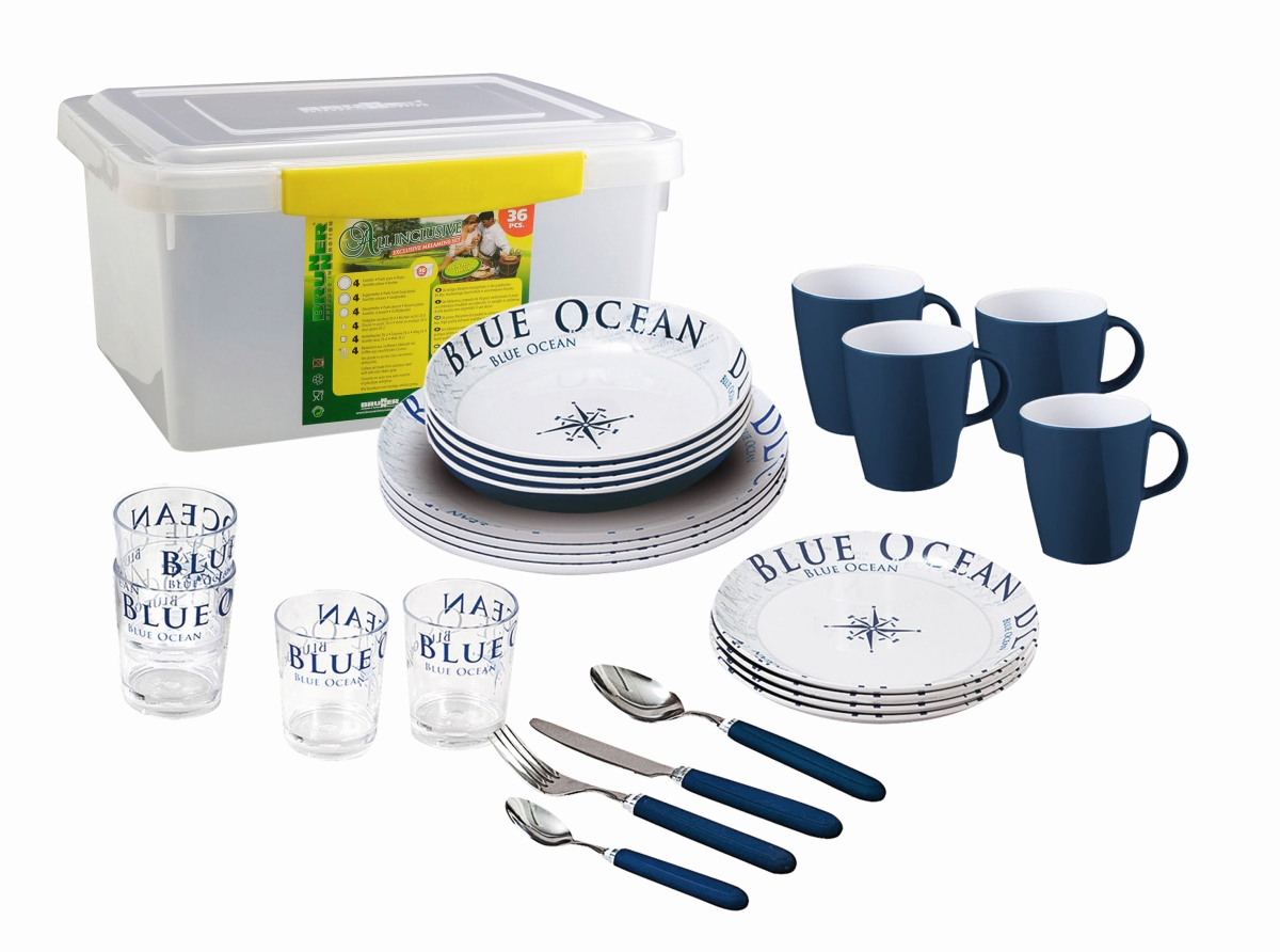 Brunner Geschirr BLUE OCEAN (Box) 36 tlg.