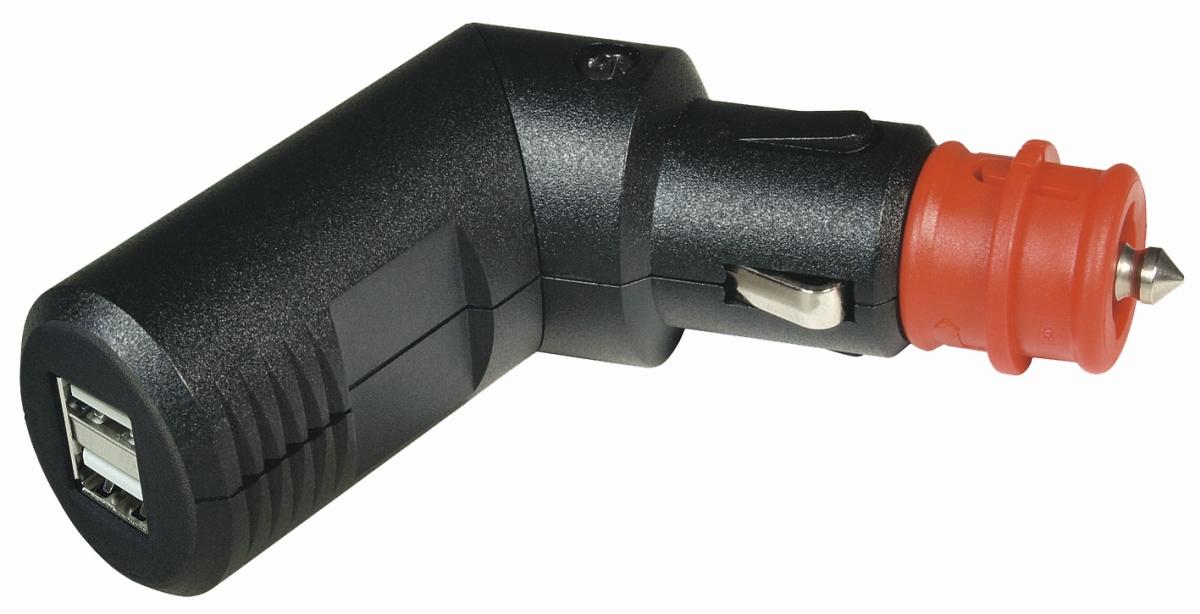 Winkelbarer Doppel-USB-Stecker