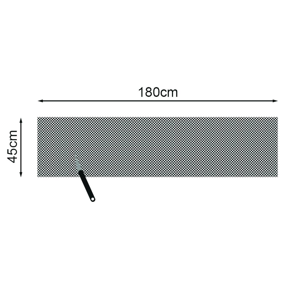 Anti-Rutschmatte schwarz 180x45 cm 3mm
