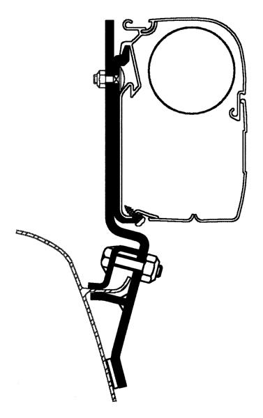 Thule Omnistor VW T2 & T3 Adapter 3er Pack