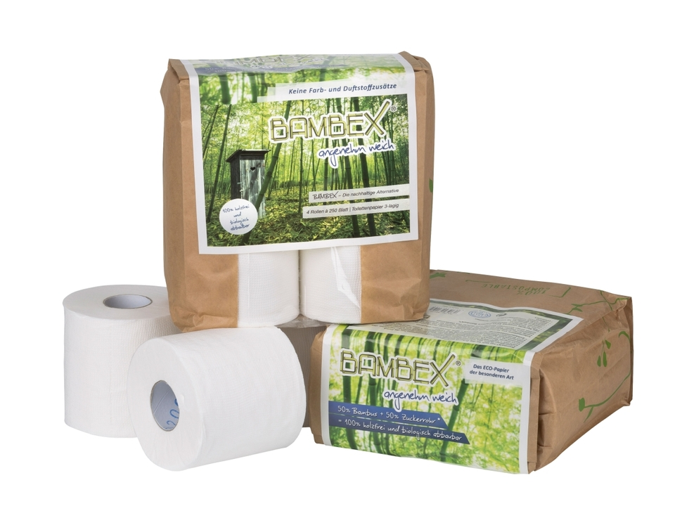 ECO-Toilettenpapier BAMBEX 4er-Pack