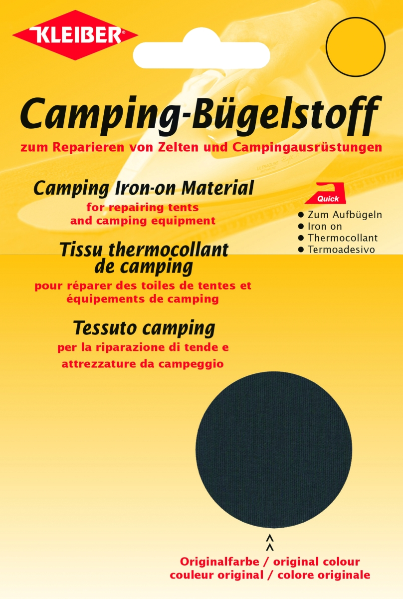 Camping Bügelstoff anthrazit