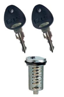 Safe-Tec STS Steckzylinder-Set 1 Zylinder/2 Schl.