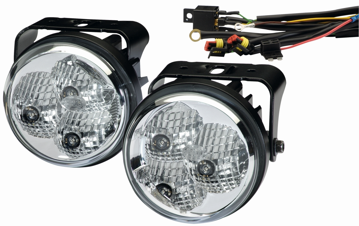LED-Tagfahrleuchten-Set rund 90 mm