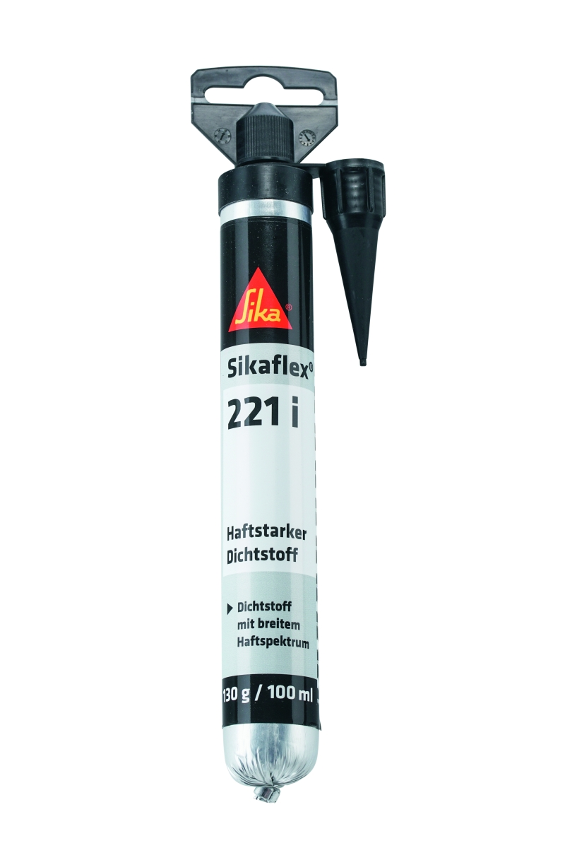 Sikaflex 221i schwarz, 100 ml Beutel