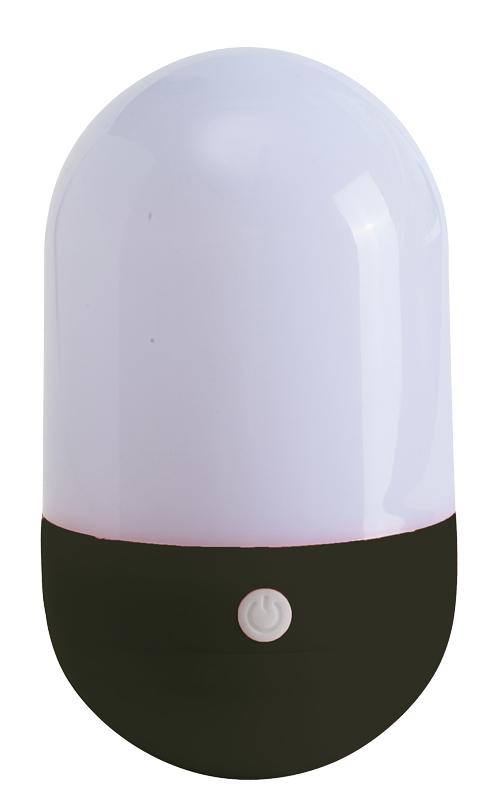 LED-Lampe TUMBLER weiß/schwarz