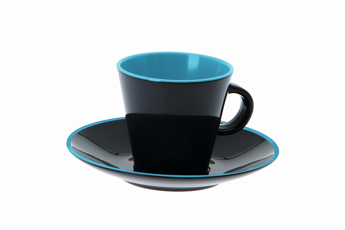 Gimex Espresso-Set grau-blue 4 tlg.