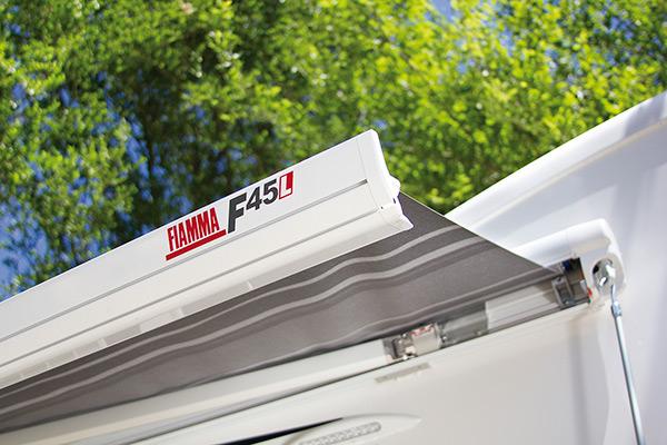 Fiamma F45L Markise polarweiß 500 cm Royal Grey