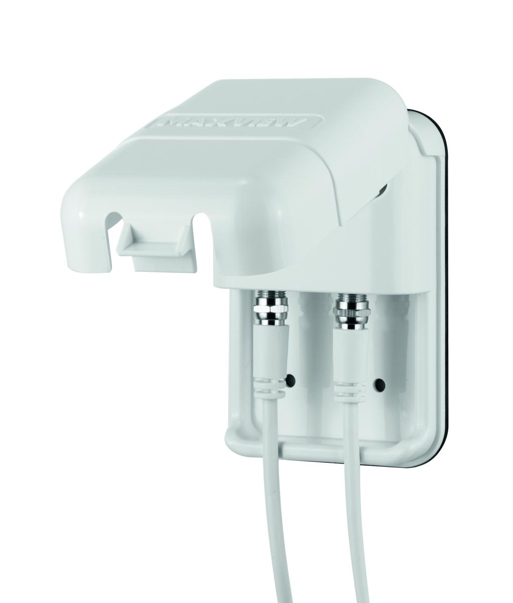 Außensteckdose für 2 Sat-Antennen