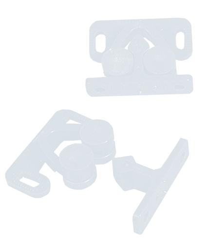 Doppelrollenschnäpper weiß 2er-Pack