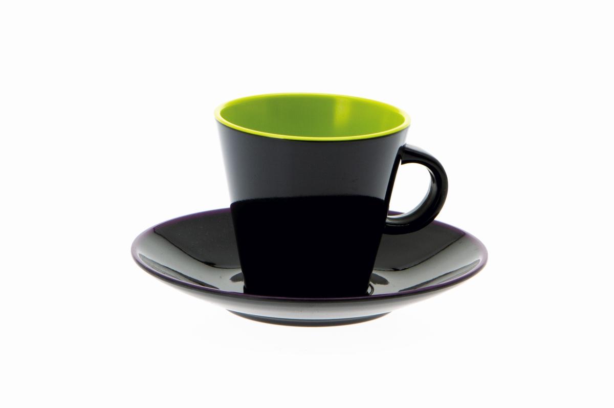 Gimex Espresso-Set grau-lime 4 tlg.