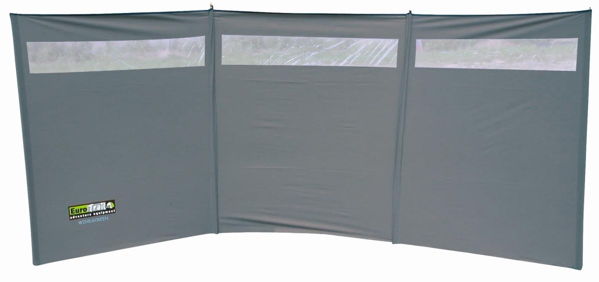 EuroTrail Windschutz 3  375 x 150, mit Fenster, grau