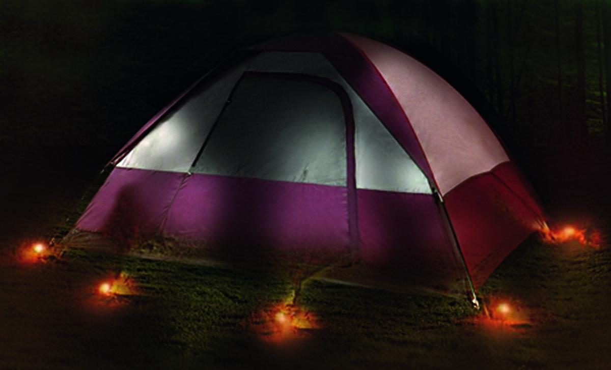 Zelthering mit LED 4er Pack