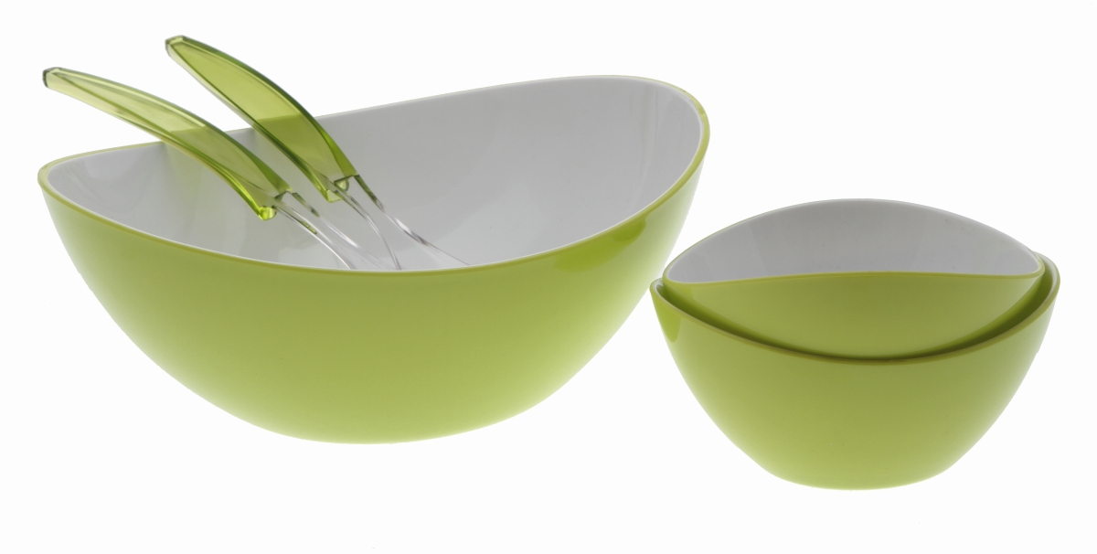 Gimex Salatschale groß 2-farbig, lime